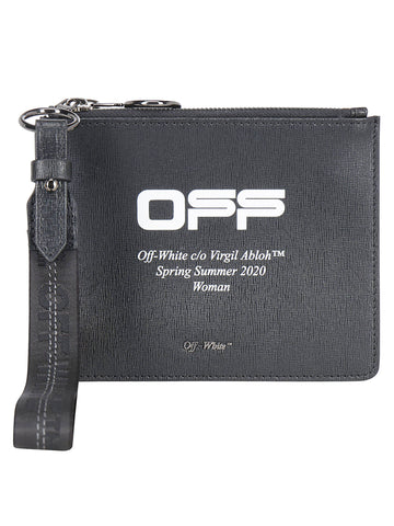 Off-White Logo Printed Double Pouch