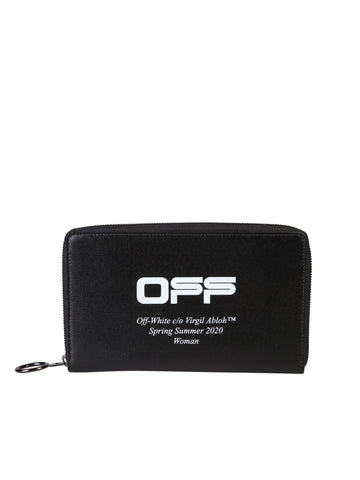 Off-White Logo Print Zipped Wallet
