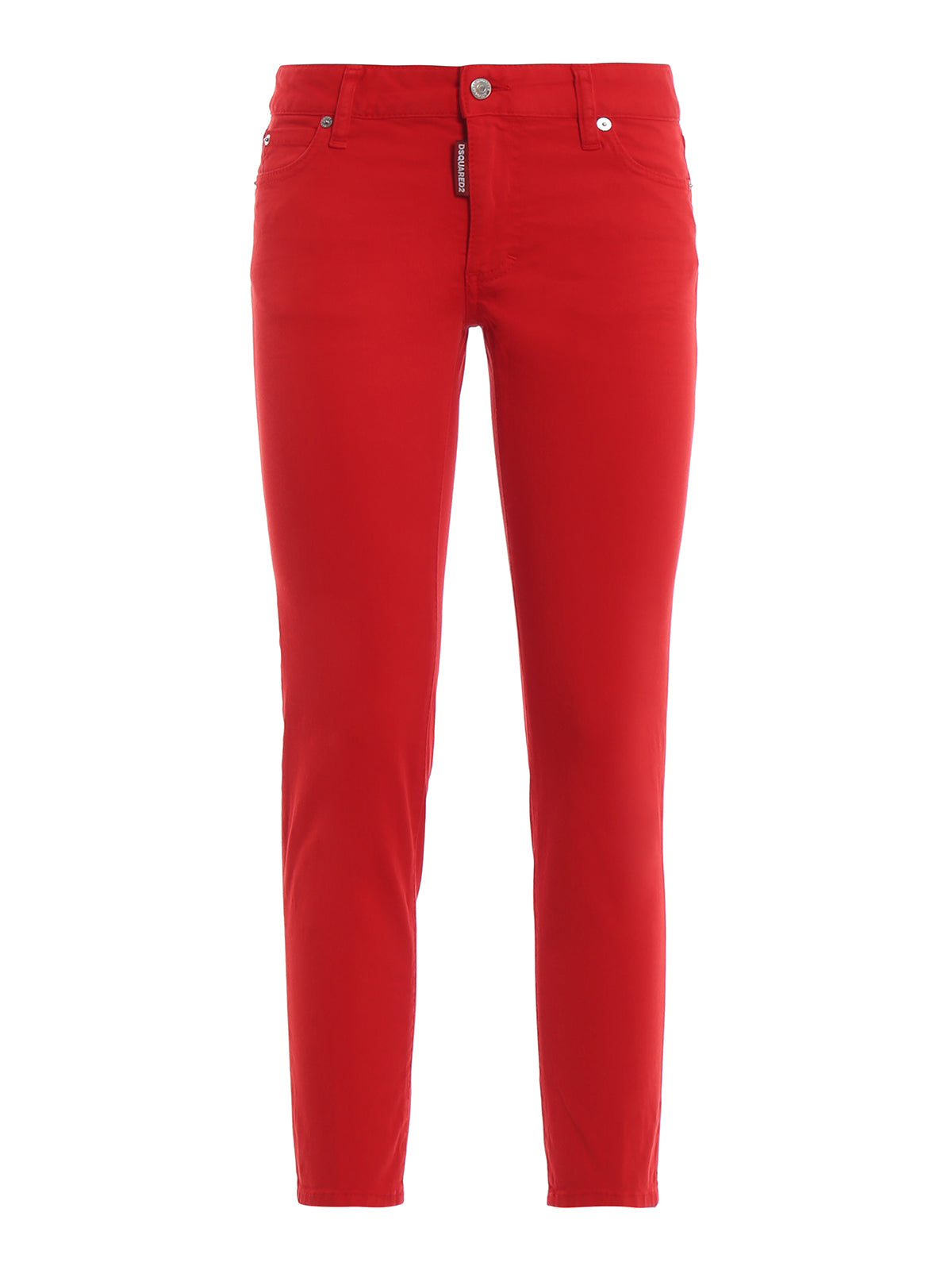 Dsquared2 Slim Leg Jeans In Red