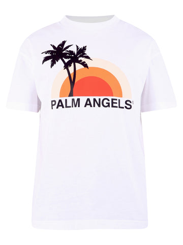 Palm Angels Logo Sunset T-Shirt