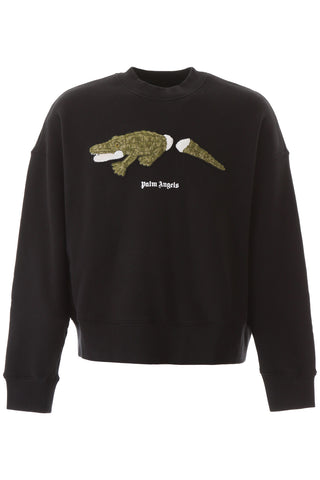 Palm Angels Logo Graphic Print Sweatshirt
