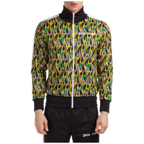 Palm Angels Burning Motif Track Jacket