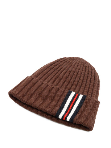 Burberry Striped Detail Beanie