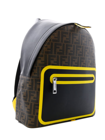Fendi FF Printed Contrasting Trim Backpack