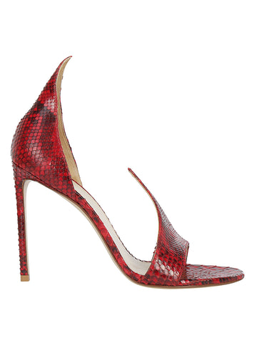 Francesco Russo Embossed Stiletto Sandal