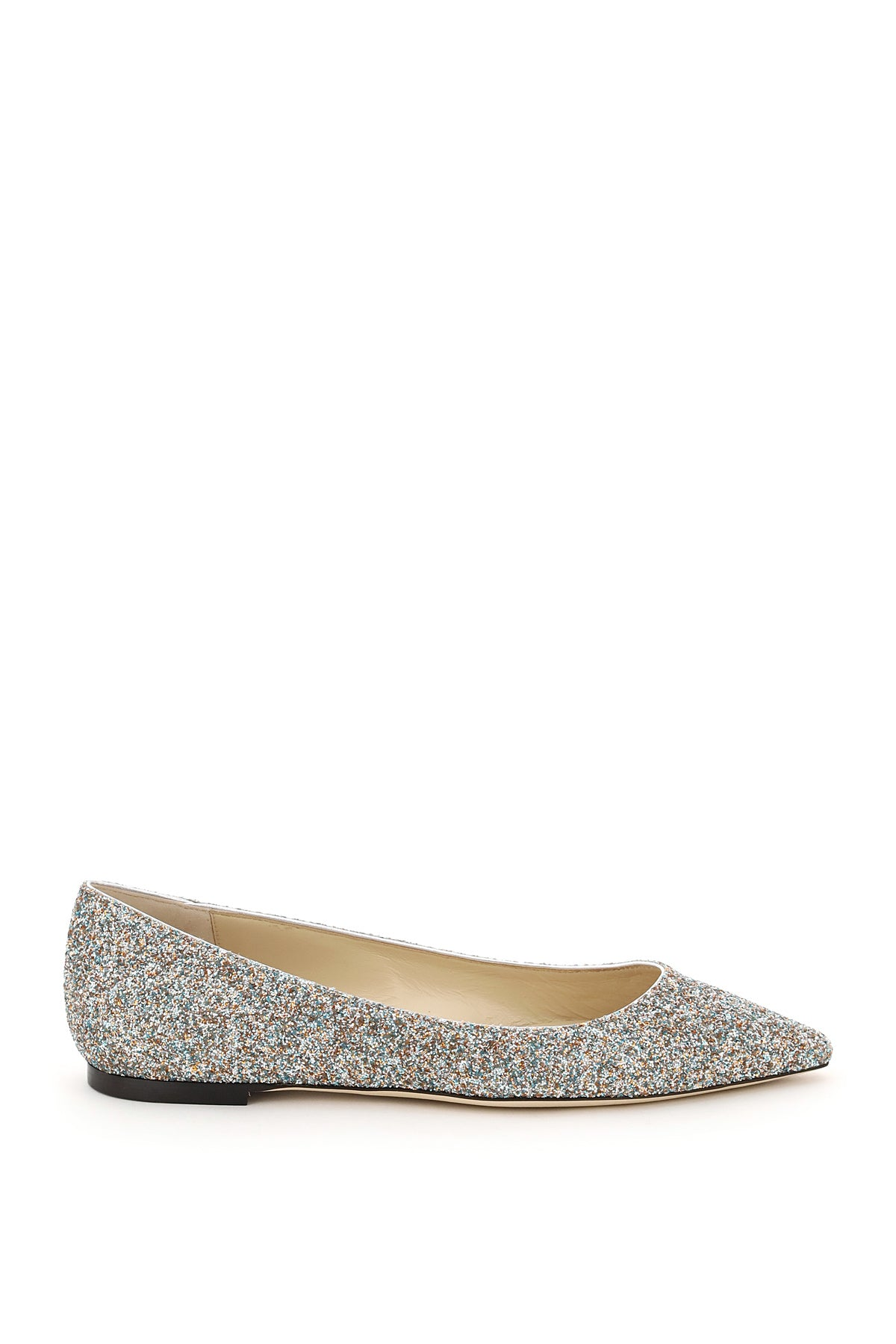 Jimmy Choo JIMMY CHOO ROMY GLITTERED FLATS