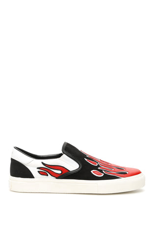 Amiri Flame Patch Slip On Sneakers