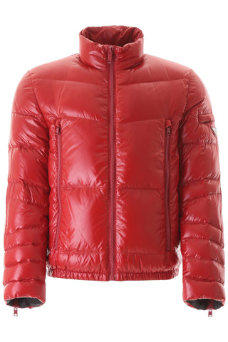 Prada Triangle Logo Puffer Jacket