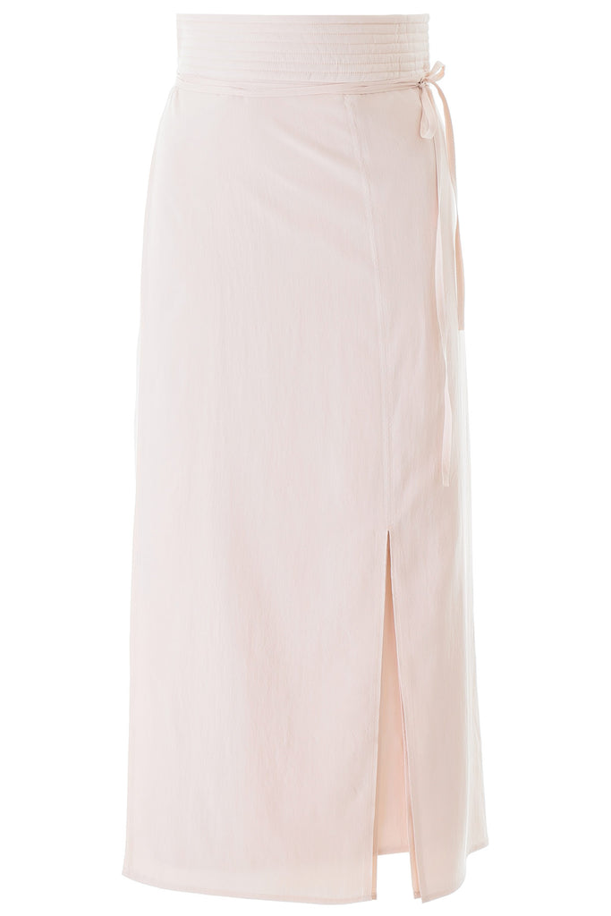 LEMAIRE LEMAIRE WRAP FRONT MIDI SKIRT