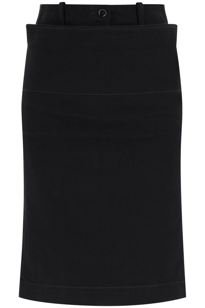 Lemaire LEMAIRE BELTED STRAIGHT DENIM SKIRT