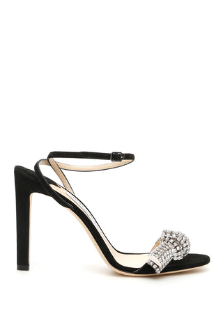 Jimmy Choo Thyra Crystal Embellished Sandals