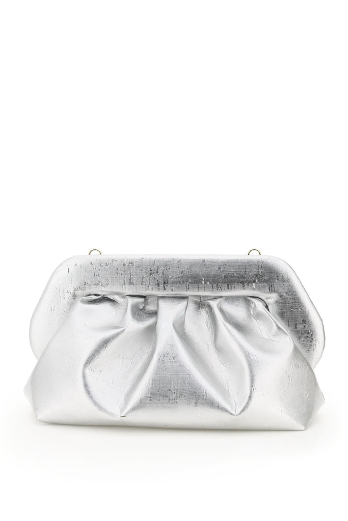 Themoirè Bios Clutch In Silver