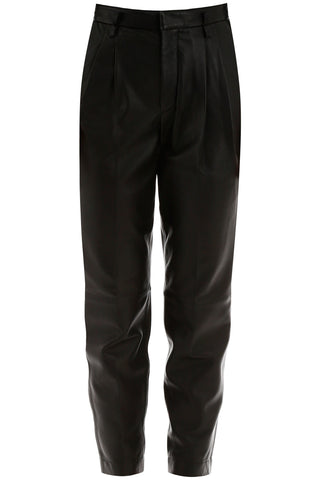 Red Valentino Tapered Leather Pants