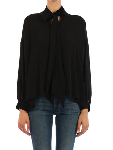 Balenciaga Loose Ascot Top