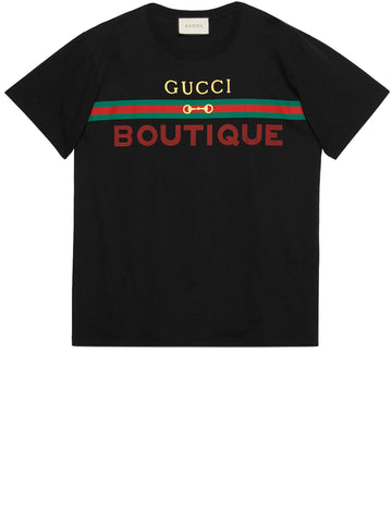 Gucci Boutique Printed Oversized T-Shirt