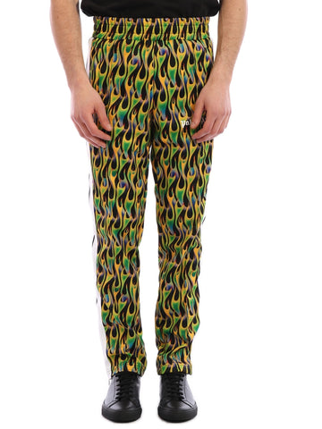 Palm Angels Flame Print Elastic Waisted Track Pants