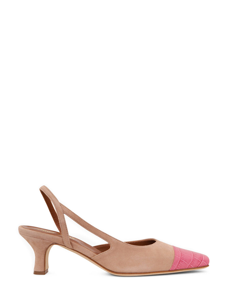 Paris Texas Colour Block Slingback Pumps