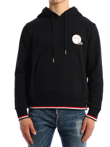 Thom Browne Embroidered Baseball Hoodie