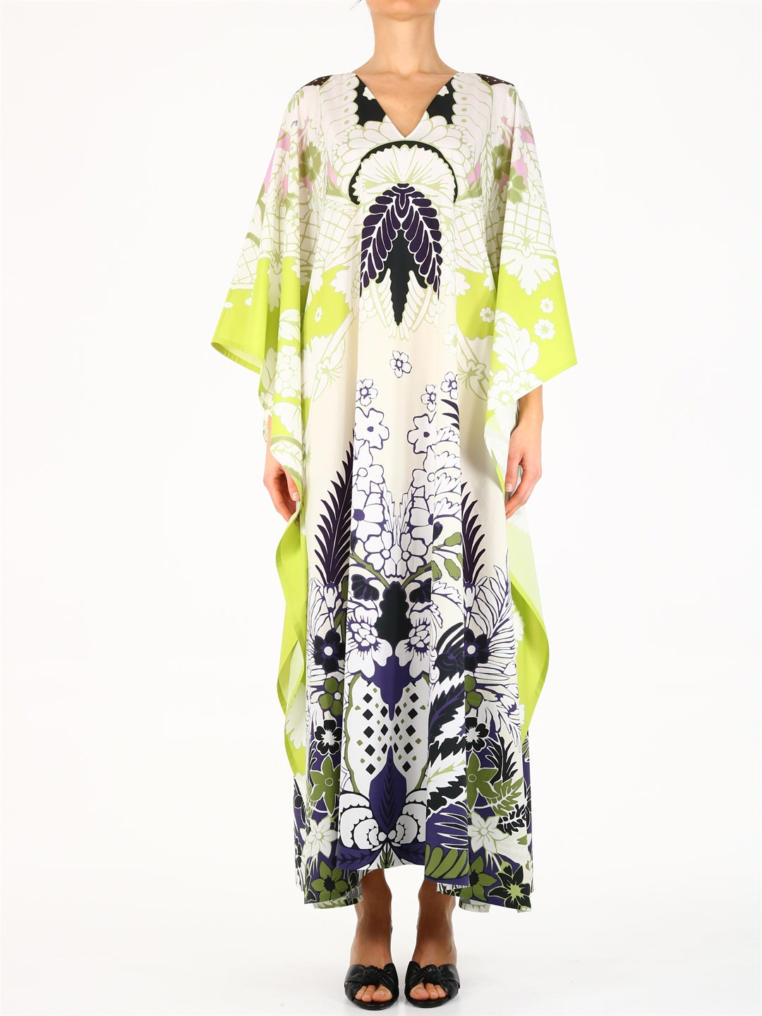 Valentino VALENTINO TROPICAL WORLD ARAZZO PRINTED POPLIN DRESS