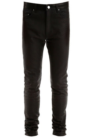 Amiri Slim Fit Leather Pants