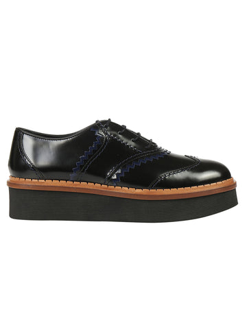 Tod's Round Toe Lace Up Shoes