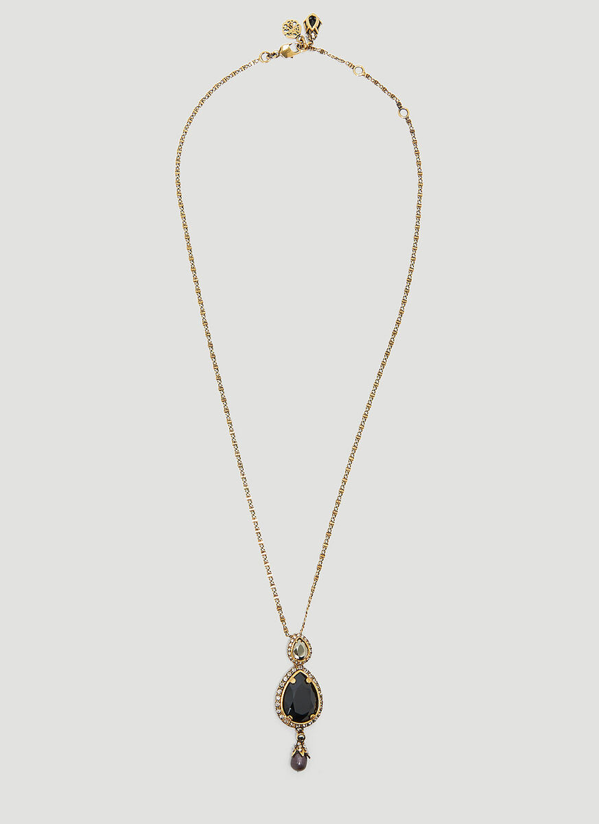 Alexander Mcqueen ALEXANDER MCQUEEN JEWELLED DROPLET LONG NECKLACE