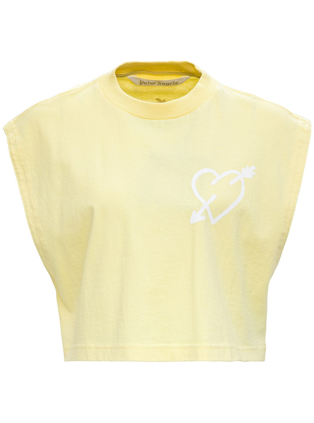 Palm Angels PALM ANGELS HEART PRINT CROPPED T