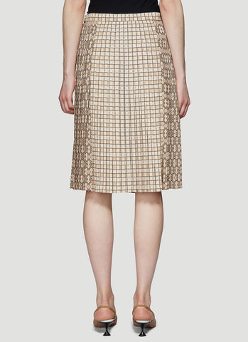 Burberry Graphic Printed Pleated Skirt