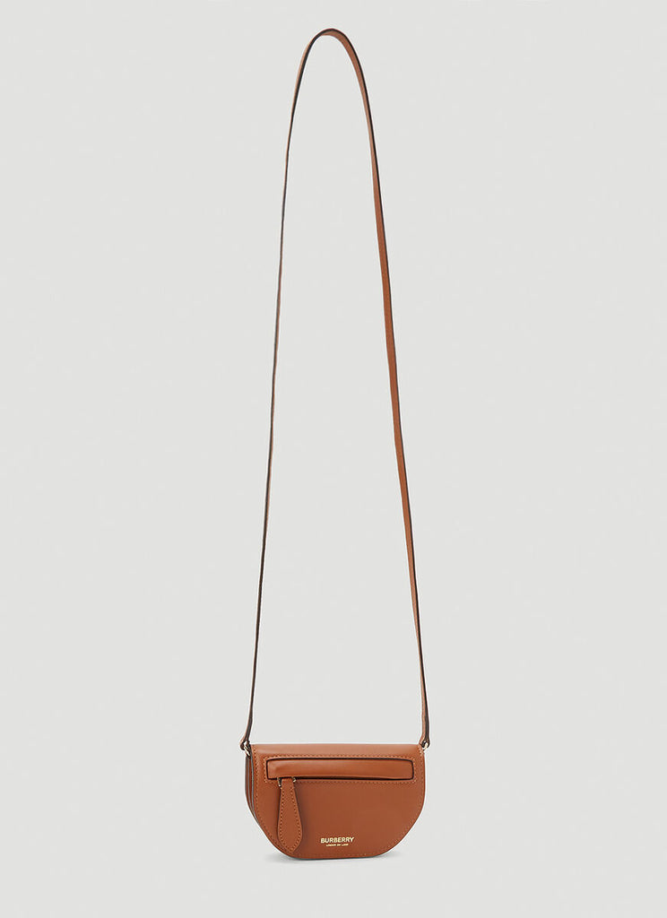 Burberry Olympia Mini Shoulder Bag In Brown