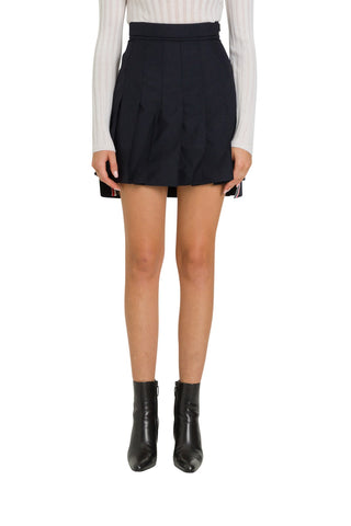 Thom Browne Pleated High Waist Mini Skirt