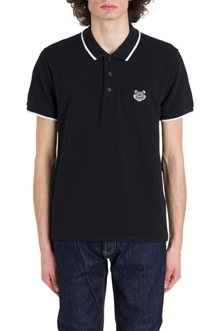 Kenzo Tiger Logo Patch Polo Shirt