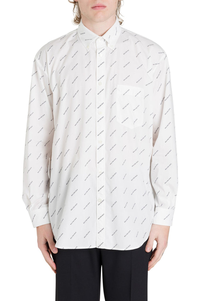 Balenciaga All Over Logo Print Shirt