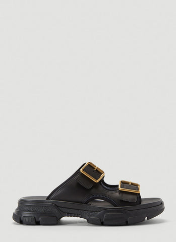 Gucci Buckle Trim Slides