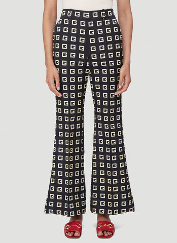 Gucci G Print Flared Pants