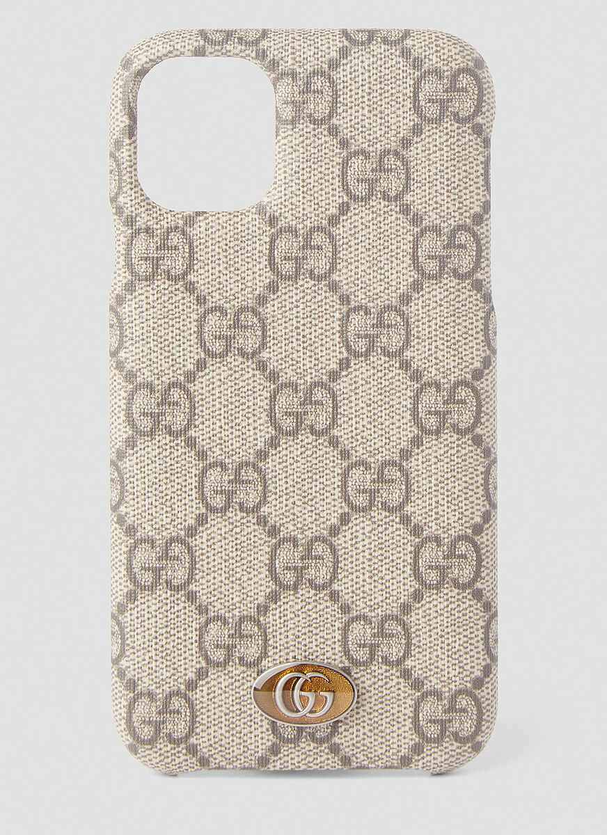Gucci Ophidia Iphone 11 Case In Brown