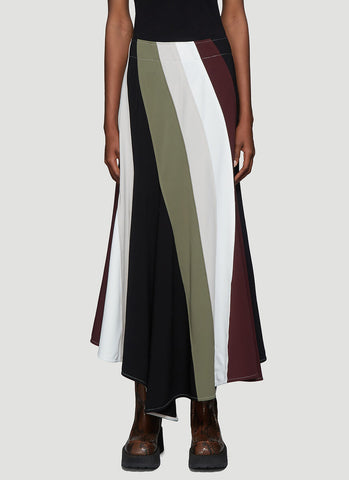 JW Anderson Contrast Panel Flared Skirt