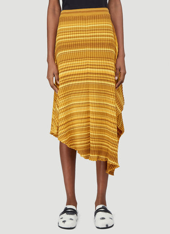 JW Anderson Striped Ribbed Infinity Skirt