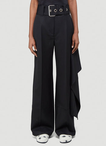 JW Anderson Belted Draped Wide Leg Pants
