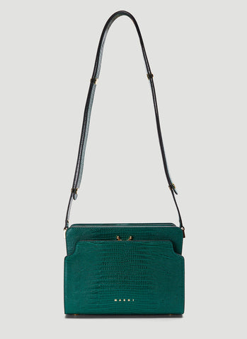 Marni Trunk Embossed Shoulder Bag