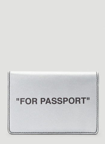 Off-White Printed Passport Holder