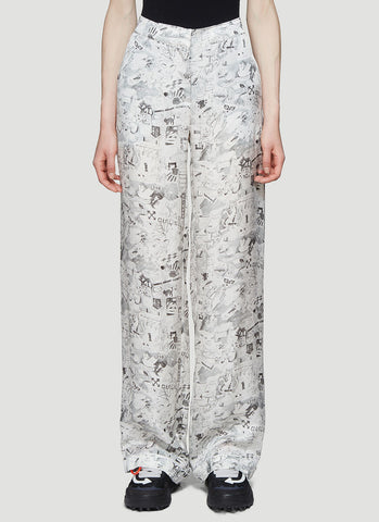 Off-White Graphic Printed Trousers