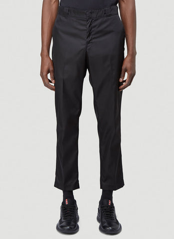 Prada Logo Plaque Trousers