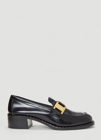 Prada Buckle Moccasin Shoes
