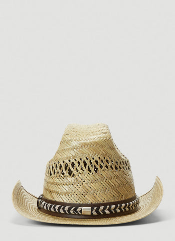 Saint Laurent Straw Cowboy Hat