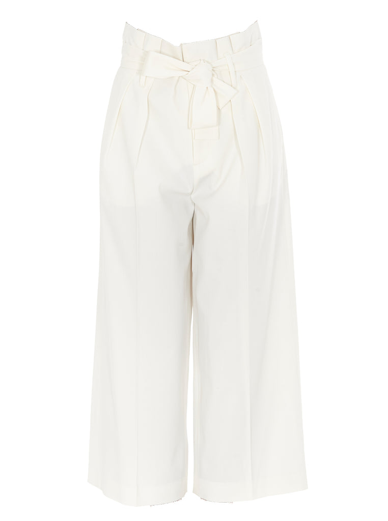 Red Valentino Redvalentino Belted Cropped Pants In White