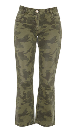 Balmain Camouflage Cropped Flared Jeans