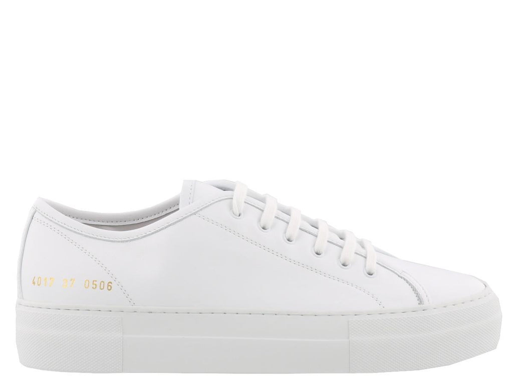 Common Projects Tournament Logo Print Low Super Sneakers