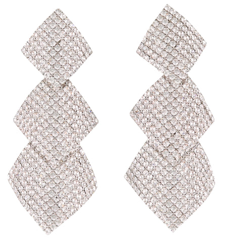 Alessandra Rich Embellished Drop Earrings