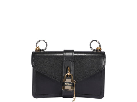 Chloé Aby Logo Padlock Chain Shoulder Bag
