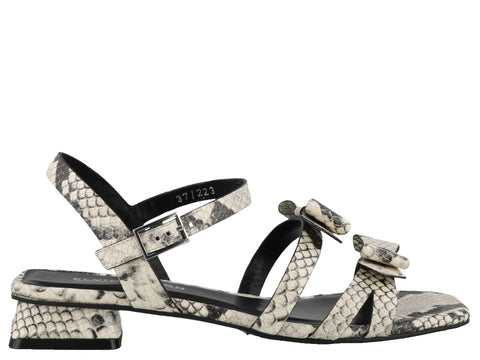 Elvio Zanon Double Bow Sandals